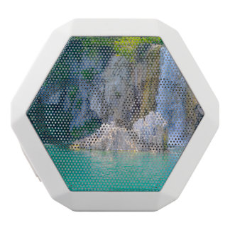 Waterfall in Plitvice National Park in Croatia White Bluetooth Speaker