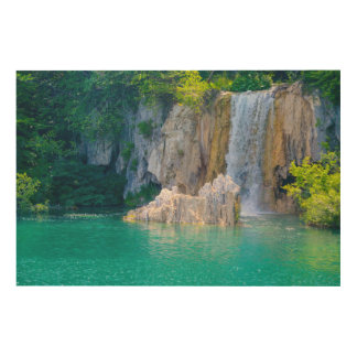Waterfall in Plitvice National Park in Croatia Wood Wall Art