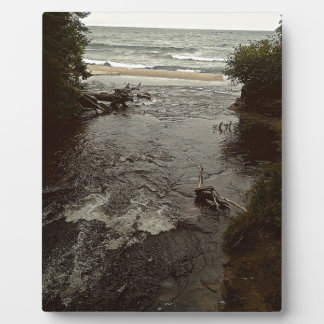 Waterfall in the beach plaque
