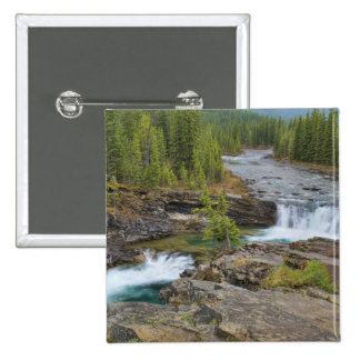 Waterfall In The Canadian Rocky Mountains 15 Cm Square Badge