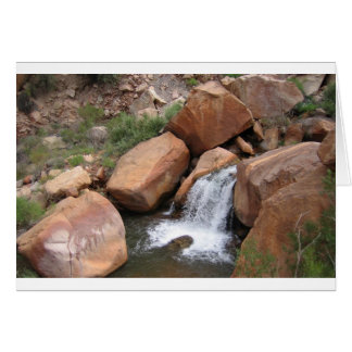 Waterfall in the Grand Canyon Card