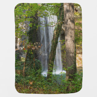Waterfall In The Woods Baby Blanket