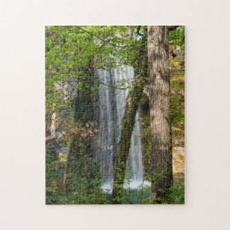 Waterfall In The Woods Jigsaw Puzzle