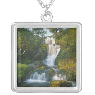 Waterfall, Isle of Skye, Scotland Square Pendant Necklace