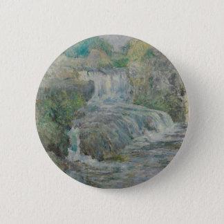 Waterfall - John Henry Twachtman 6 Cm Round Badge