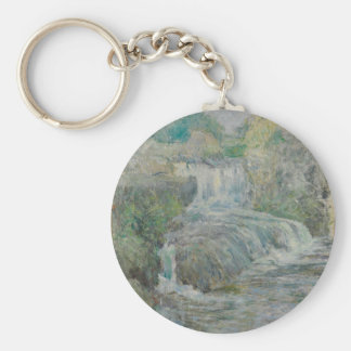 Waterfall - John Henry Twachtman Key Ring