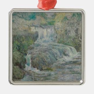 Waterfall - John Henry Twachtman Metal Ornament