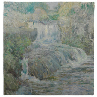 Waterfall - John Henry Twachtman Napkin