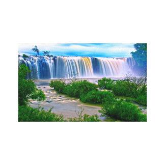 Waterfall kaleidoscope canvas print