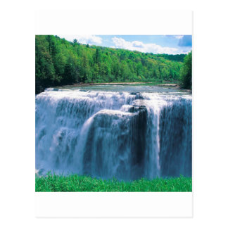 Waterfall Letchworth State Park New York Postcard