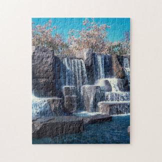 Waterfall Memorial Washington DC. Jigsaw Puzzle