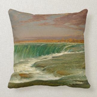 Waterfall Niagara Falls River Throw Pillow