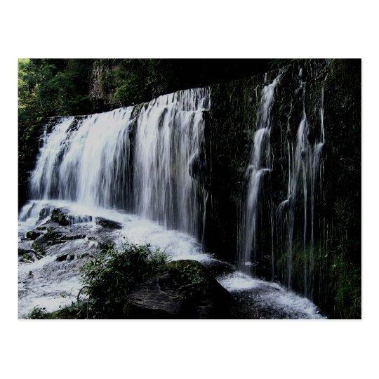Waterfall of Sgŵd isaf Clun-gwyn Postcard