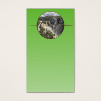 Waterfall on green gradient business card