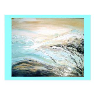 Waterfall On the Rocks (K.Turnbull Art) Postcard
