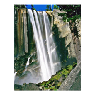 Waterfall Over Rock Cliffs Full Color Flyer