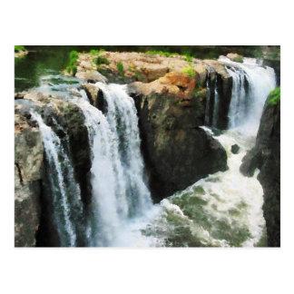 Waterfall Paterson NJ Postcard