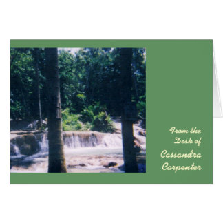 Waterfall Personalized Note Cards - Large