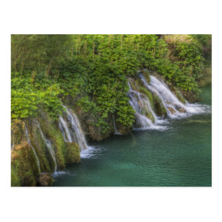 Waterfall, Plitvice Lakes National Park and Postcard