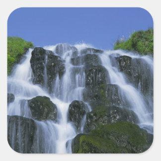 Waterfall, Portree, Isle of Skye, Highlands, Square Sticker