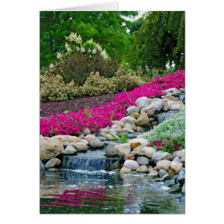 Waterfall Reflection Sympathy Card