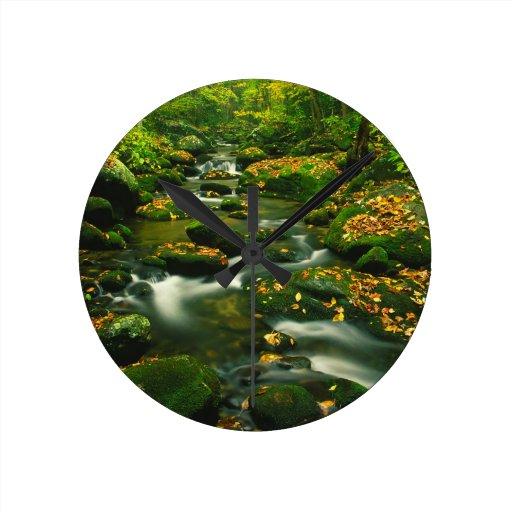 Waterfall Roaring Fork Smoky Mountian Clock
