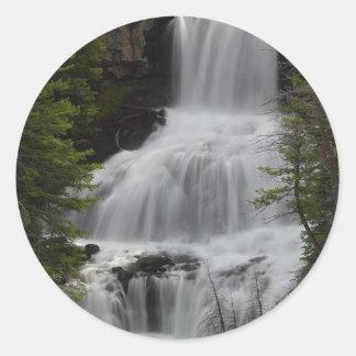 Waterfall Round Sticker