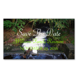 Waterfall Save The Date Magnetic Business Cards