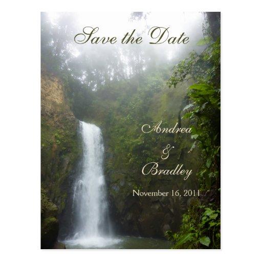 Waterfall Save the Date Postcard