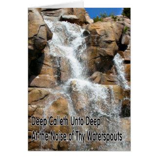Waterfall Scripture Encouragement Card Greeting Card