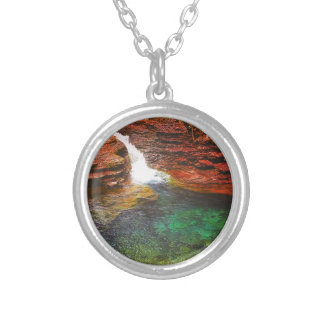 Waterfall Silver Plated Necklace