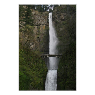 Waterfall Solitude Poster