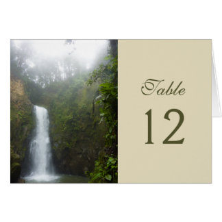 Waterfall Table Number Card