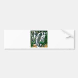 Waterfall Tangle Jasper Park Canada Bumper Sticker