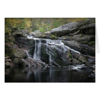 Waterfall thank you card