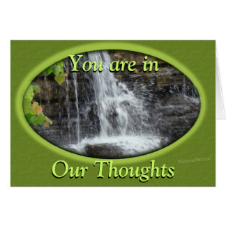 Waterfall-thoughts-customize any occasion card
