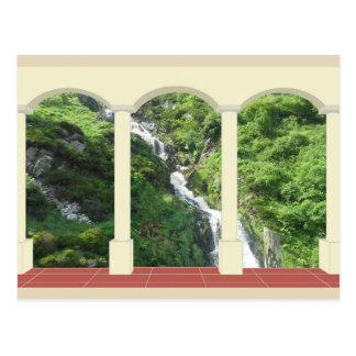 Waterfall under Arch Postcard