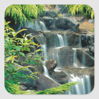 Waterfall Vancouver British Columbia Square Sticker