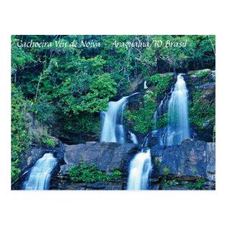 Waterfall Veil of Fiancé Postcard