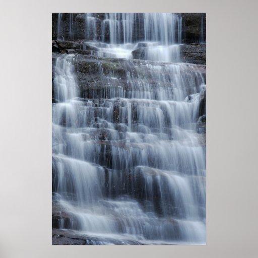 Waterfall Vertical Shot Poster