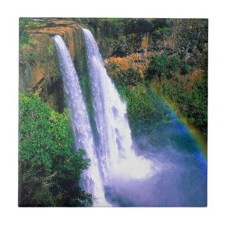 Waterfall Wailua Kauai Hawaii Ceramic Tile