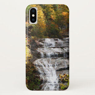 Waterfall with Autumn Foliage iPhone X Case