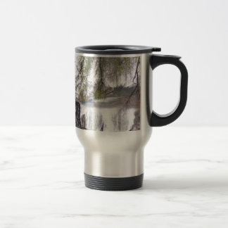 Waterfall with Branches Stainless Steel Travel Mug