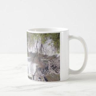 Waterfall with Branches Basic White Mug