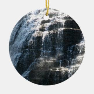 Waterfalls at Ithaca Falls New York Ceramic Ornament