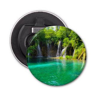 Waterfalls at Plitvice National Park in Croatia Bottle Opener