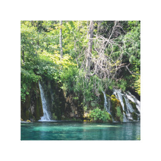 Waterfalls at Plitvice National Park in Croatia Canvas Print