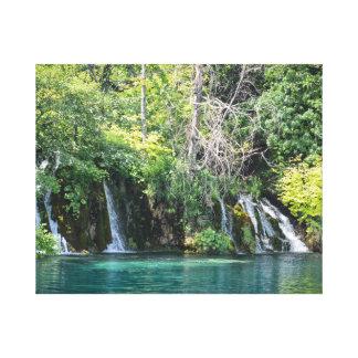 Waterfalls at Plitvice National Park in Croatia Canvas Print