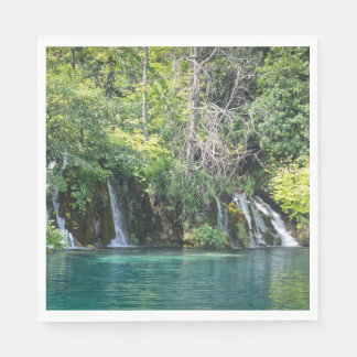 Waterfalls at Plitvice National Park in Croatia Disposable Serviettes