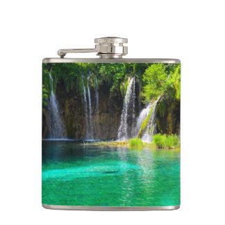 Waterfalls at Plitvice National Park in Croatia Flask